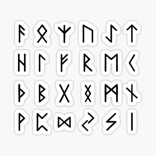 Black Runes Sticker