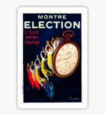 Leonetto Cappiello Affiche Montre Élection Sticker