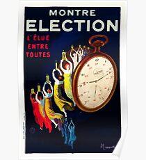 Leonetto Cappiello Affiche Montre Élection Poster