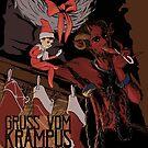 Krampus and Friend by FoolishMortal