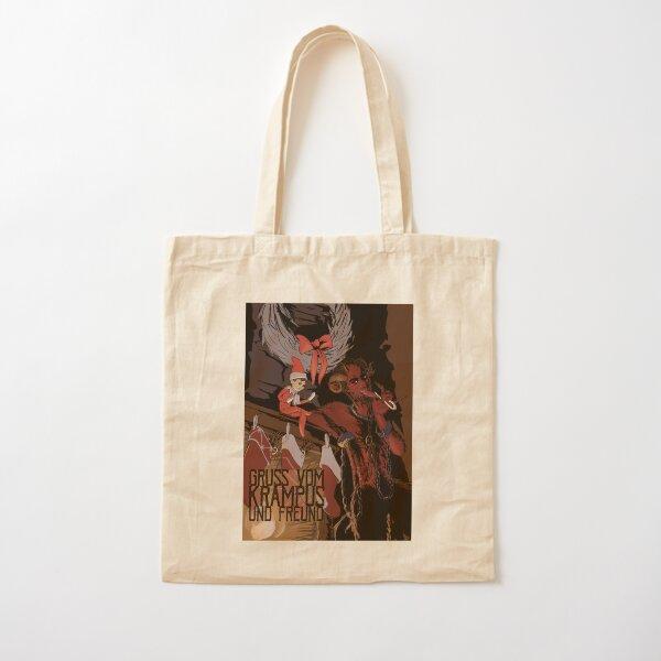 Krampus and Friend Cotton Tote Bag