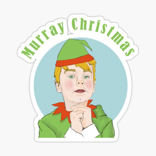 Murray Christmas Elf Sticker