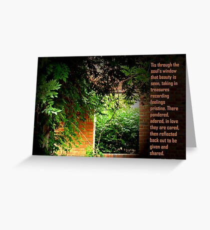Through the Soul's Window Greeting Card