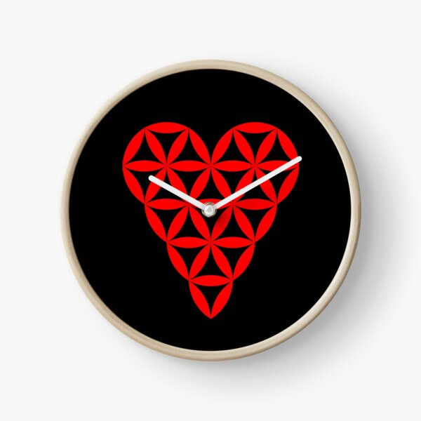 Heart of Life - Vector, Red. Clock