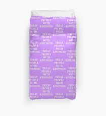 treat people with kindness purple Duvet Cover
