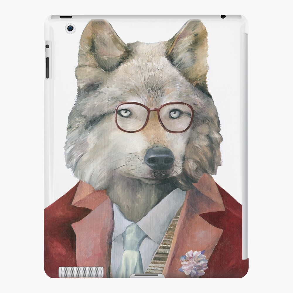 Grey Wolf iPad Case & Skin