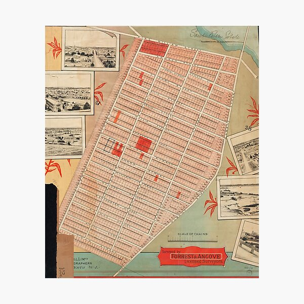 Cadastral map of Victoria Park, 1890, State Library of Western Australia Photographic Print