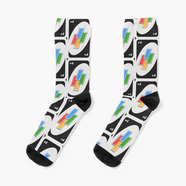 Plus Four Uno Card Socks