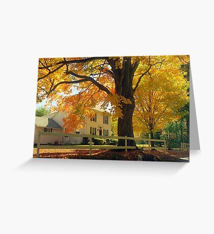 Connecticut Autumn Greeting Card