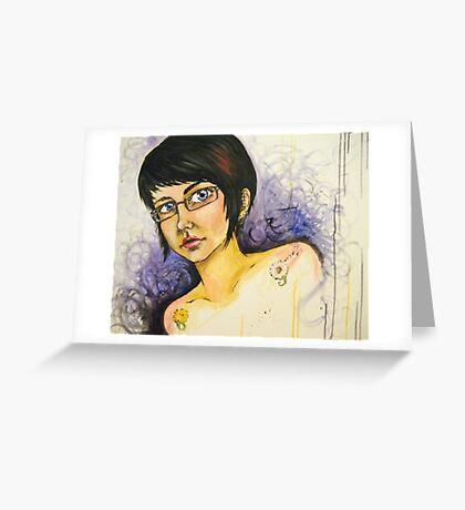 Surreal Self Portrait Greeting Card