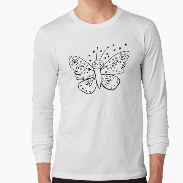 Love Bug Butterfly Long Sleeve T-Shirt