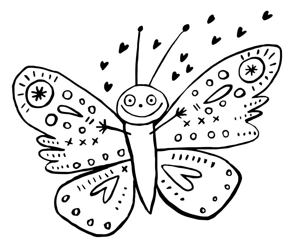 Love Bug Butterfly by jillianailsa