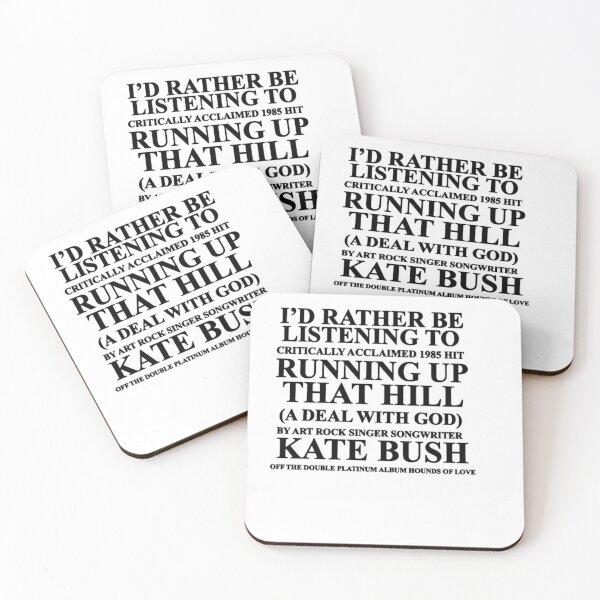 Je préfère écouter Kate Bush Dessous de verre (lot de 4)