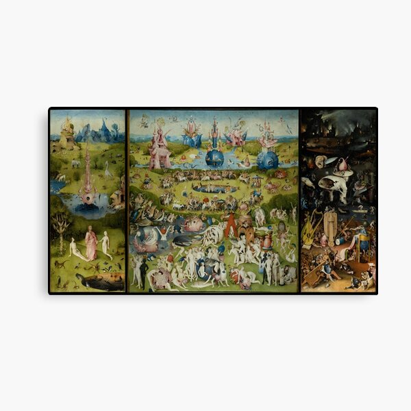 Hieronymus Bosch The Garden Of Earthly Delights Canvas Print
