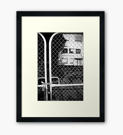not welcome anymore Framed Print