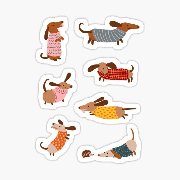 Dachshunds in Sweaters Sticker