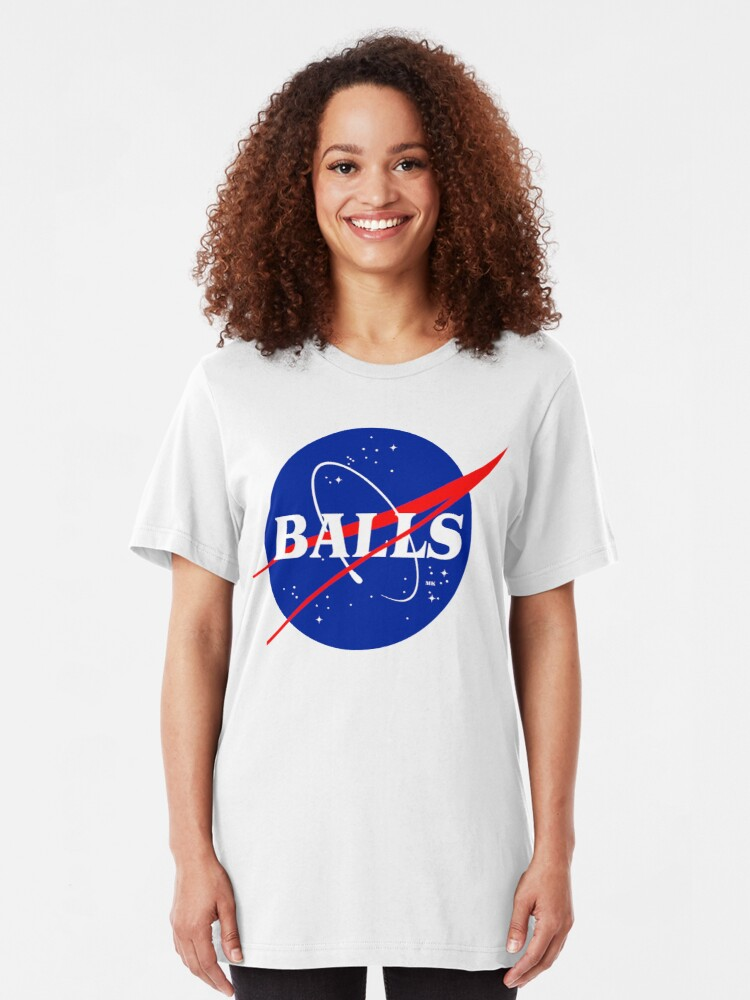 Alternate view of NASA BALLS Slim Fit T-Shirt