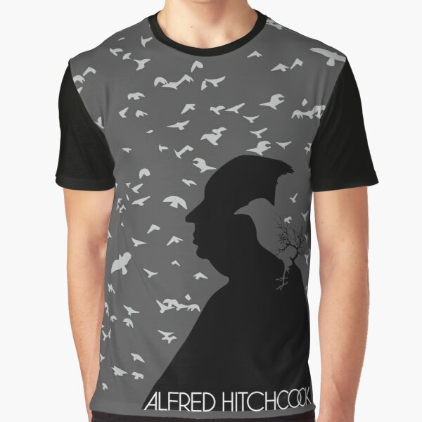 Alfred Hitchcock and his birds. Graphic T-Shirt