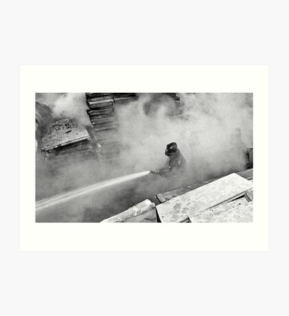 Smoke and Fire Art Print