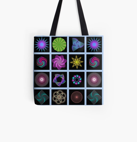 Beautiful colorful geometric shapes All Over Print Tote Bag