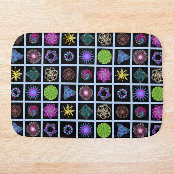 Beautiful colorful geometric shapes Bath Mat