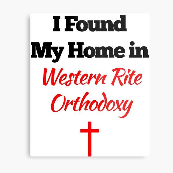 Western Rite Orthodox Design Metal Print