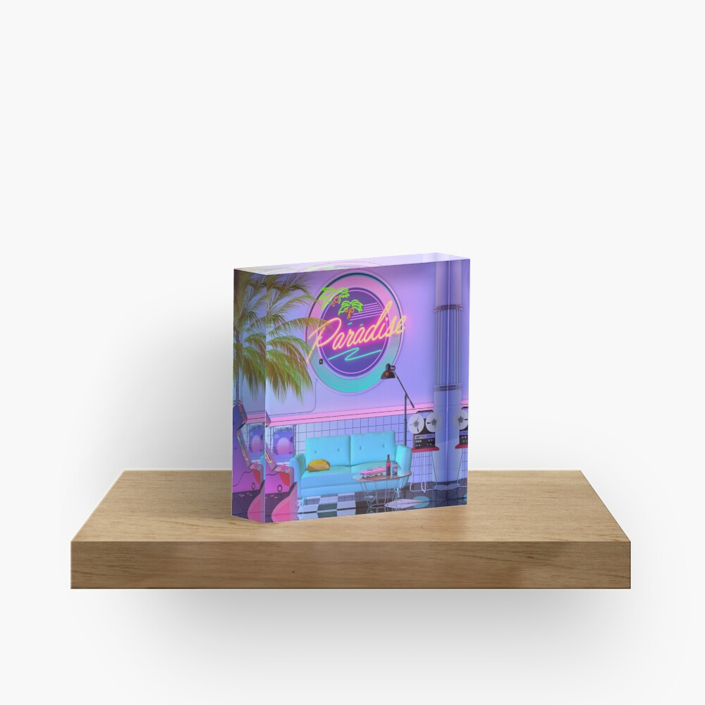 Paradise Wave Acrylic Block