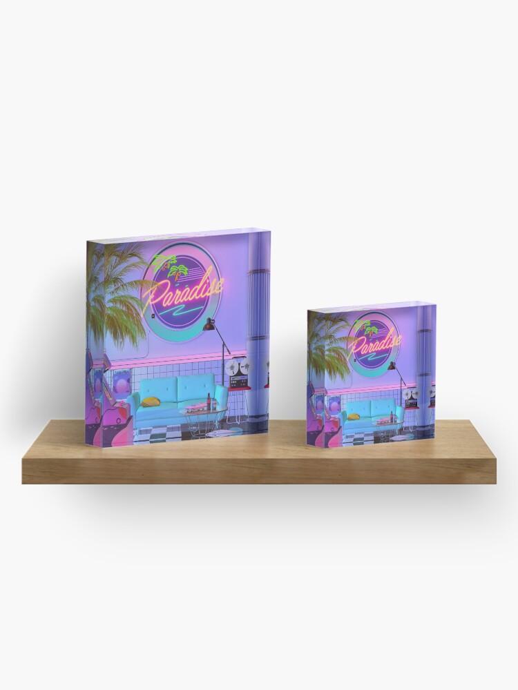 Alternate view of Paradise Wave Acrylic Block
