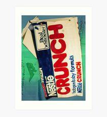 Crunch bar wrapper Art Print