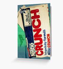 Crunch bar wrapper Greeting Card