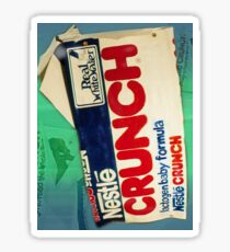 Crunch bar wrapper Sticker
