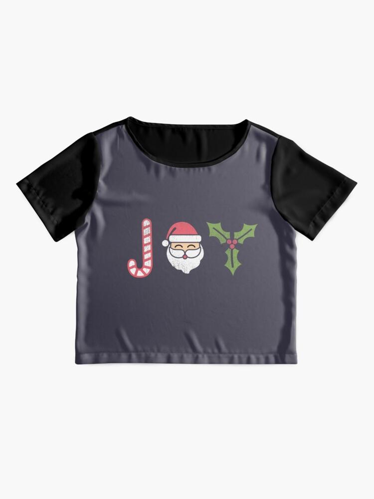 Alternate view of Christmas Joy  Chiffon Top