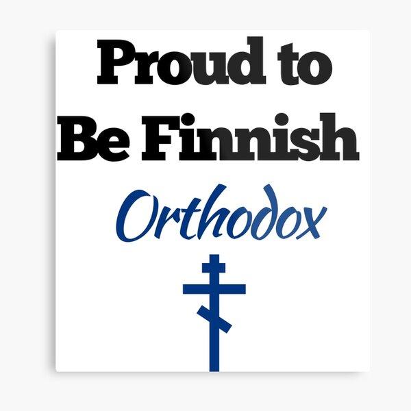 Finnish Orthodox Design Metal Print