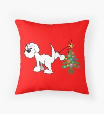 Merry Christmas love DOG Throw Pillow