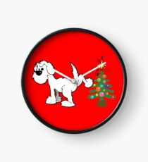 Merry Christmas love DOG Clock