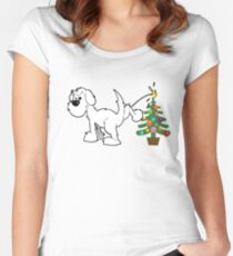 Merry Christmas love DOG Fitted Scoop T-Shirt