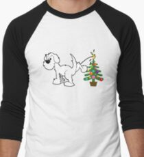 Merry Christmas love DOG Baseball ¾ Sleeve T-Shirt