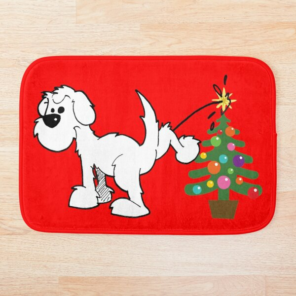 Merry Christmas love DOG Bath Mat