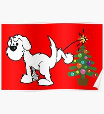 Merry Christmas love DOG Poster