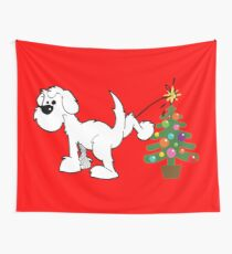 Merry Christmas love DOG Wall Tapestry