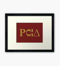 PCU – South Park fraternity, PC Principal Framed Print