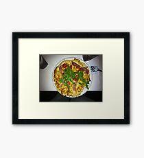 Pizza Prosciutto Con Formaggio Framed Print
