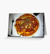 Pizza Peperonata Greeting Card