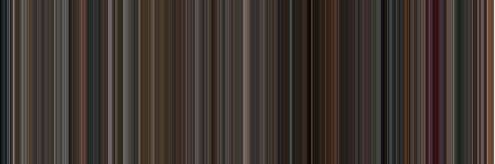 Moviebarcode: Black Swan (2010) [Simplified Colors] by moviebarcode