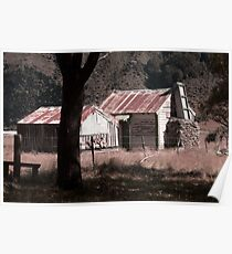 Old Sheperds Hut, Rees Valley Poster