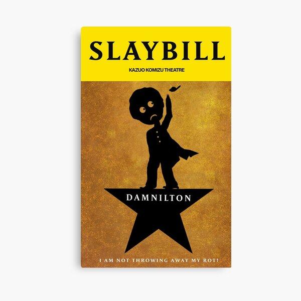 Broadway Zombie Damnilton Slaybill Canvas Print