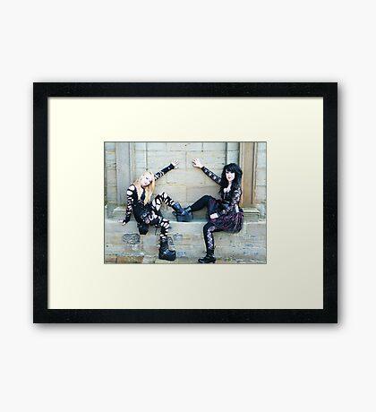 Grave Yard Goth Girls Framed Print