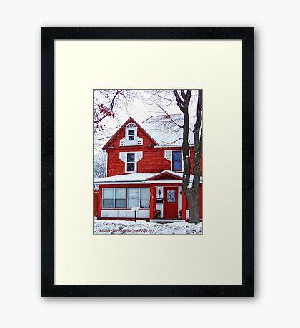 Winter Red Framed Print