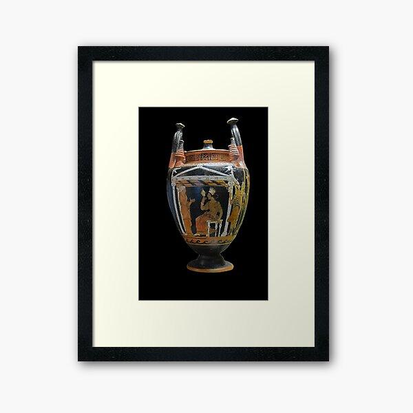 Ancient Greek red-figure Vase  Framed Art Print