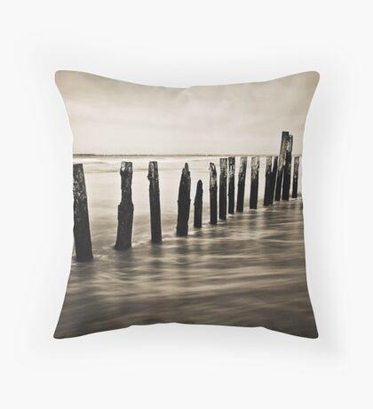 Wooden Poles - Landscape Throw Pillow